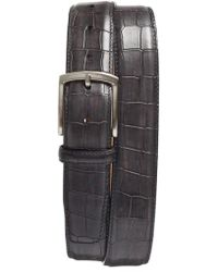 Magnanni - Alligator Embossed Leather Belt - Lyst