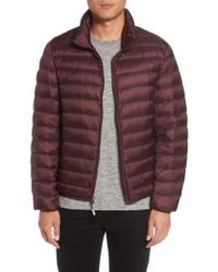 Tumi - 'pax' Packable Quilted Jacket, Burgundy - Lyst