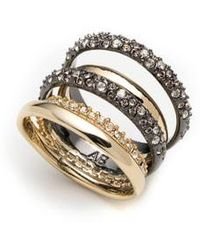 Alexis Bittar - Pave Stack Ring - Lyst