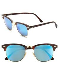 Ray-Ban - 'flash Clubmaster' 51mm Sunglasses - Lyst