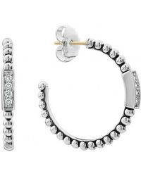 Lagos - Caviar Spark Diamond Hoop Earrings - Lyst