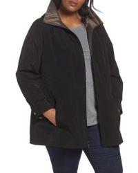 Gallery | Two-tone Long Silk Look Raincoat | Lyst