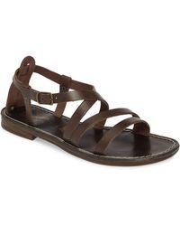 7f5cd7530d90f2 Lyst - Dolce Vita Dv By Agate Strappy Flat Sandals in Metallic