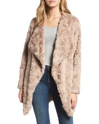 BB Dakota - Tucker Wubby Faux Fur Coat - Lyst