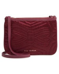 Ted Baker - Quilted Bow Crossbody Bag - - Lyst