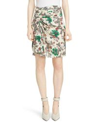 Isabel Marant - Cereny Ruched Side Stretch Silk Skirt - Lyst