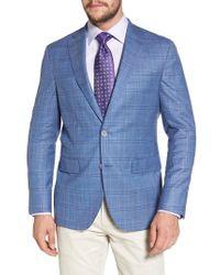 David Donahue - Arnold Classic Fit Plaid Wool Blend Sport Coat - Lyst