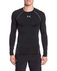 Under Armour - Heatgear Compression Fit Long Sleeve T-shirt - Lyst