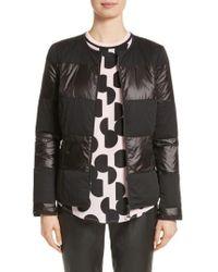 St. John - Reversible Dot Print Matte & Shiny Jacket - Lyst
