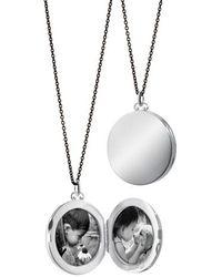 Monica Rich Kosann - Round Dome Locket Necklace - Lyst