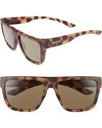 fecce293e1 Lyst - Smith Highwire 56mm Chromapop(tm) Square Sunglasses - in Brown