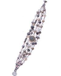 Nakamol - Crystal & Labradorite Beaded Magnetic Bracelet - Lyst