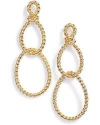 Kate Spade - Kate Spade Sailor Knot Statement Earrings - Lyst