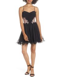 Blondie Nites - Applique Sweetheart Fit & Flare Dress - Lyst