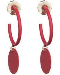 SHOSHANNA LEE - Hanging Medallion Hoop Earrings - Lyst