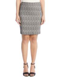Karen Kane - High Stretch Skirt (black/white) Women's Skirt - Lyst