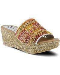 Spring Step - Calci Espadrille Wedge Sandal - Lyst