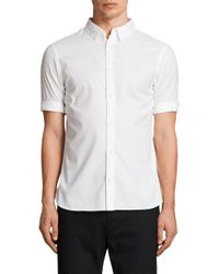 AllSaints - Redondo Slim Fit Sport Shirt - Lyst