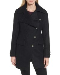 Laundry by Shelli Segal | Boucle Military Coat | Lyst