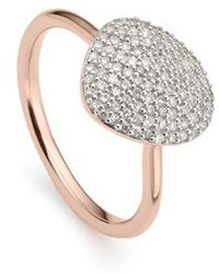 Monica Vinader | Nura Diamond Pebble Ring | Lyst