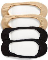 Hue - 4-pack Liner Socks, Black - Lyst