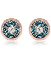Monica Vinader - Evil Eye Stud Diamond Earrings - Lyst