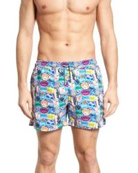 Nikben - City Sticker Slim Fit Swim Trunks - Lyst