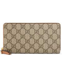 cd5c24f34090 Gucci Bengal-print Gg Supreme Canvas Chain Wallet - Lyst