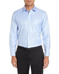 Nordstrom - Trim Fit Microgrid Dress Shirt - Lyst