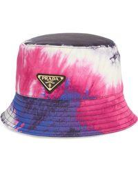 5ccf0fdb Prada - Tye Dye Bucket Hat - Lyst