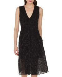 Akris - Organza Ribbon Stripe Dress - Lyst