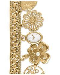 Anne Klein - Oval Case Charm Bracelet Watch - Lyst