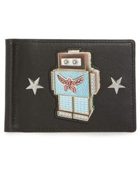 MCM - Roboter Series Leather Money Clip Card Case - Lyst