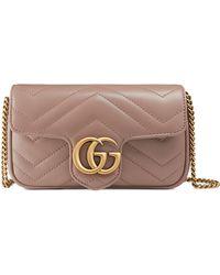 Gucci - Supermini Gg Marmont 2.0 Matelasse Leather Shoulder Bag - Lyst