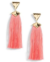 Gorjana - Havana Triangle Tassel Earrings - Lyst