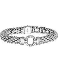 Lagos - 'enso - Circle Game' Diamond Caviar Rope Bracelet - Lyst