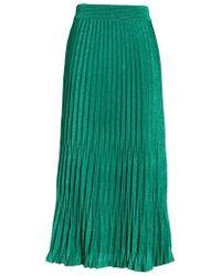 Maje - Jupette Pleated Midi Skirt - Lyst