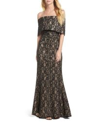 Vince Camuto - Sequin Off The Shoulder Gown - Lyst