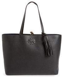 Tory Burch - Mcgraw Leather Tote - Lyst