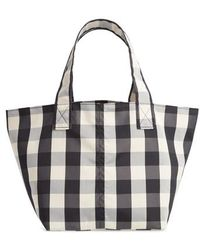 Trademark - Small Gingham Nylon Grocery Tote - - Lyst