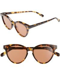 70721d0bcd43 Stella McCartney - 50mm Round Sunglasses - Medium Havana - Lyst