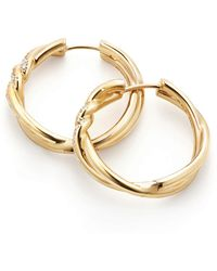 David Yurman - Continuance Hoop Earrings - Lyst
