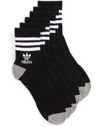 Adidas Originals | 3-pack Quarter Crew Socks, White | Lyst