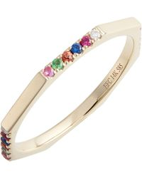 EF Collection - Half Rainbow Diamond Octagon Ring - Lyst