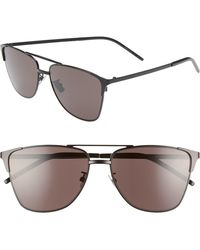 85f2e58ff20 Lyst - Gucci Semi-matte Metal Aviator Sunglasses in Black for Men