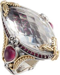 Konstantino - Pythia Crystal Cocktail Ring - Lyst