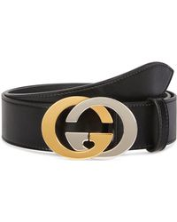 Gucci - Men's Two-tone GG Leather Belt - Lyst