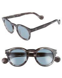 Moncler - 49mm Keyhole Sunglasses - - Lyst