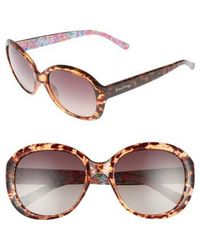 Lilly Pulitzer - Lilly Pulitzer Magnolia 57mm Polarized Round Sunglasses - Havana - Lyst