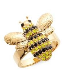 Kate Spade - Picnic Perfect Pave Bee Ring - Lyst